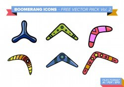 Boomerang Icons Free Vector Pack Vol. 2