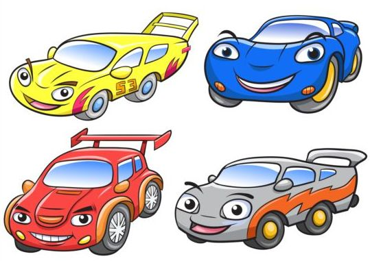 Cartoon car race vector