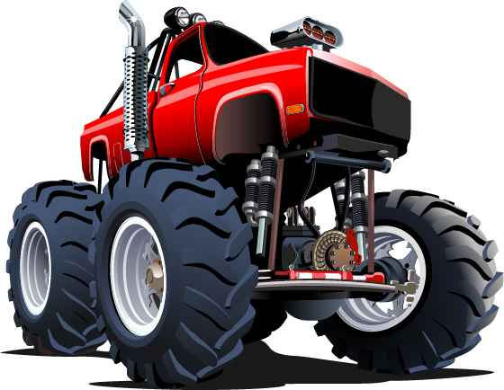 Cartoon sport utility vehicle vector 02
