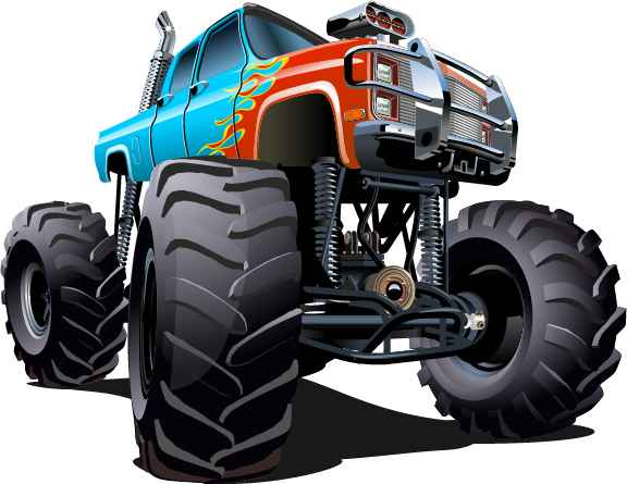 Cartoon sport utility vehicle vector 01