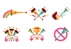 Celebratory Vuvuzela Vectors