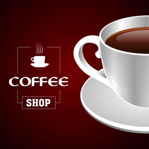 Coffee shop background vectors 02