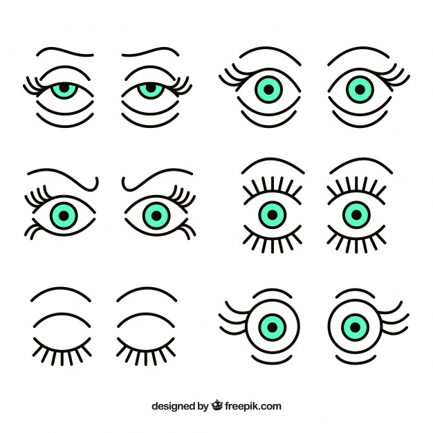 Collection of expressive eyes