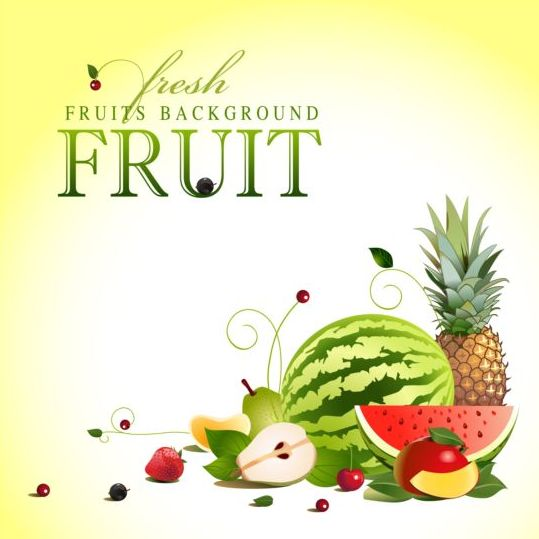Creative fruit background vector graphic 09