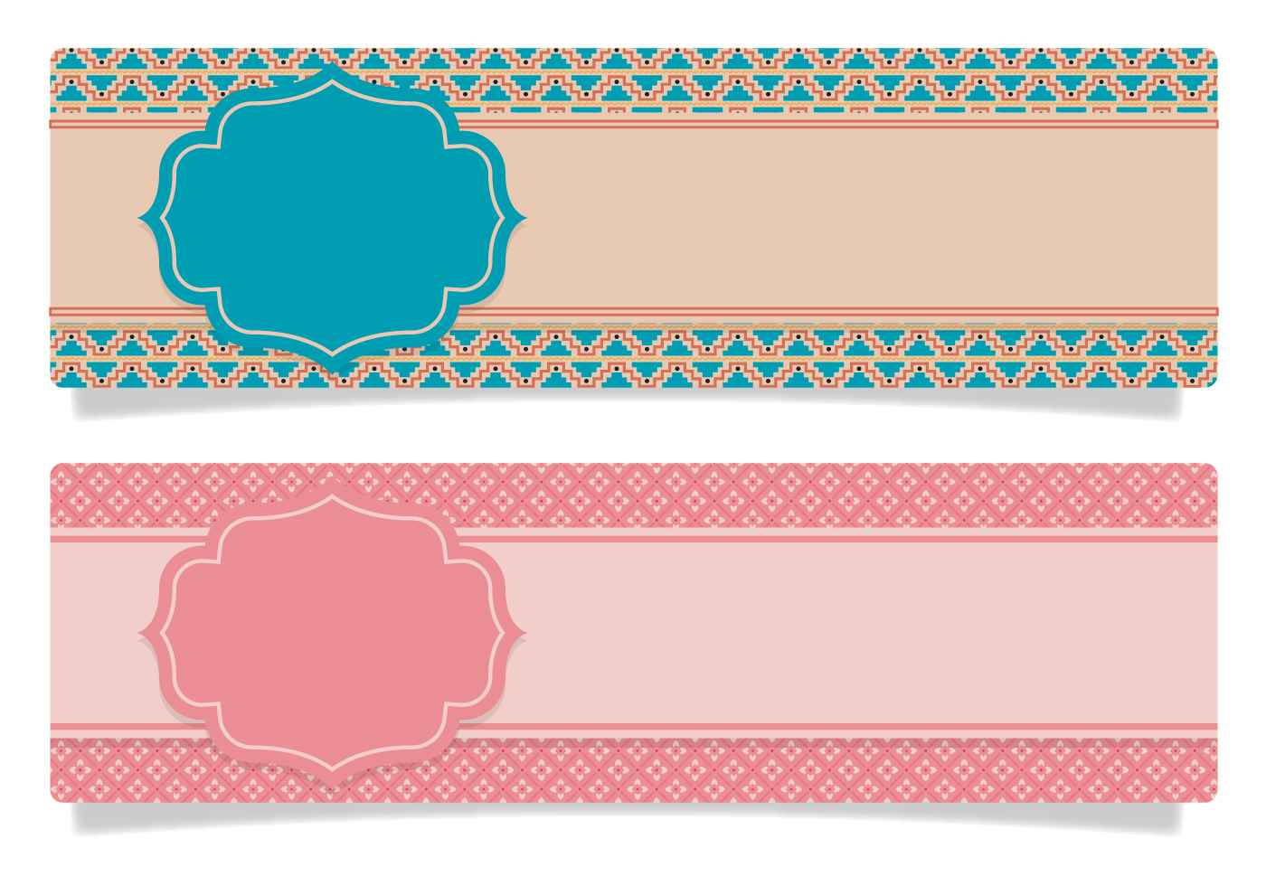 cute scrapbook style banners vector epin free graphic and