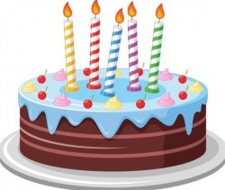 Delicious birthday cake with candle vectors 03