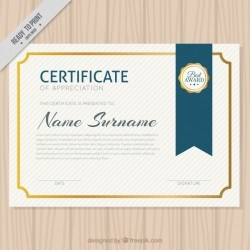 Elegant diploma with golden border