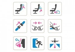 Free Aircraft Safety Vector Icons