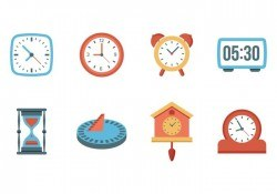 Free Clock and Watches Vector