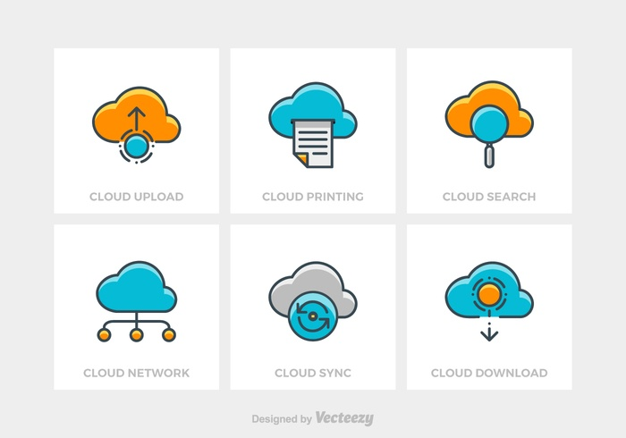 Free Cloud Technology Vector Icons
