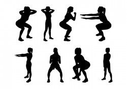 Free Fitness Silhouettes Vector