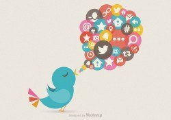 Free Twitter Bird Message Vector