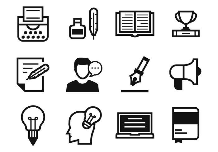 Free Writers and Storytelling Icons Vector