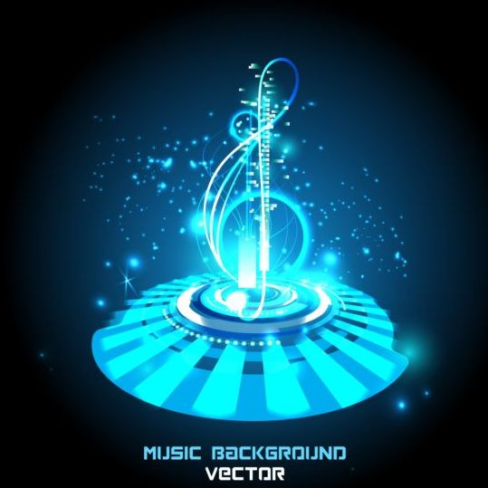 Futuristic music background design vector 02