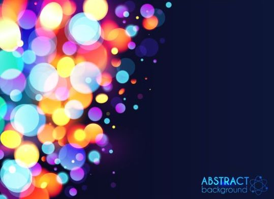 Halation colorful bokeh effect background vector 04