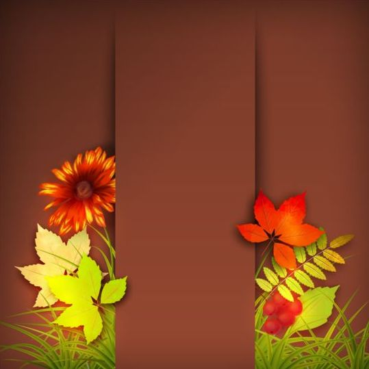 Harvest season with brown background vectors 03