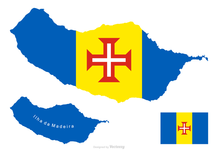 Madeira Vector Map And Flag