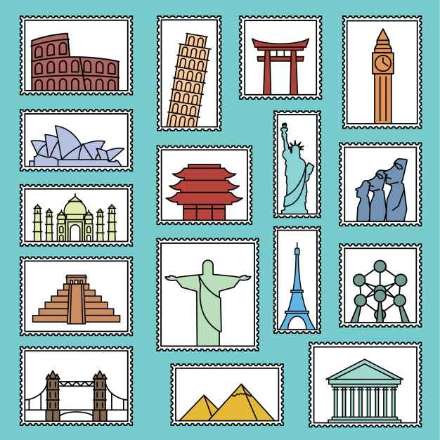 Monument stamps collection