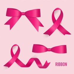 Pink ribbons collection