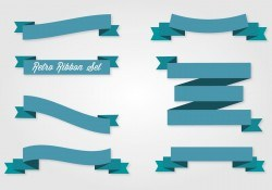 Retro Ribbon Collection Vector