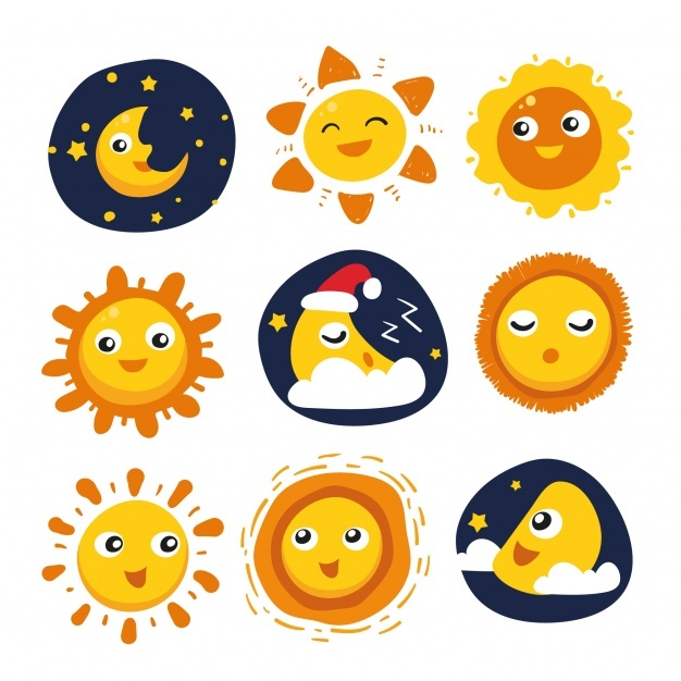 Sun and moon designs collection
