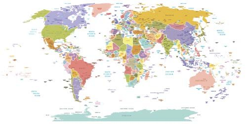 Vector colored world maps template 02