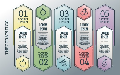 Vintage banners infographic template vectors set 14