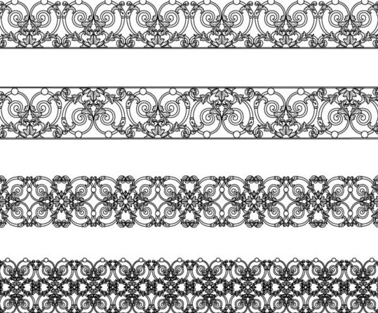 Vintage decor black border vectors