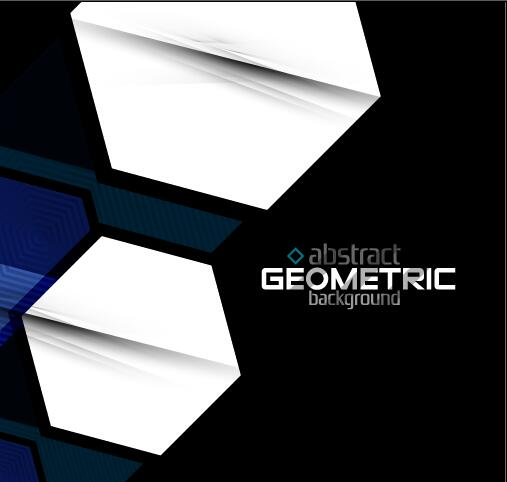 White geometric with abstract background vector