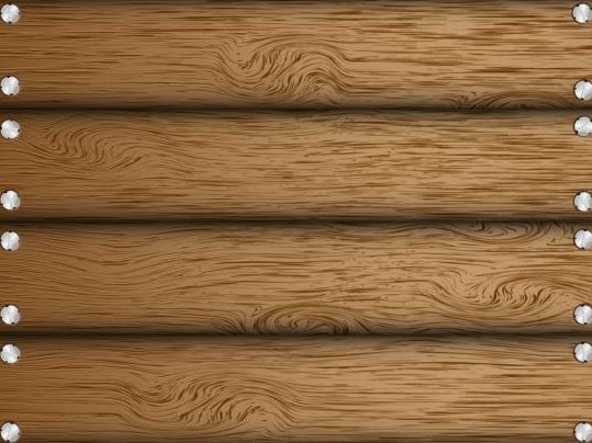Wooden board with nails background vector 02