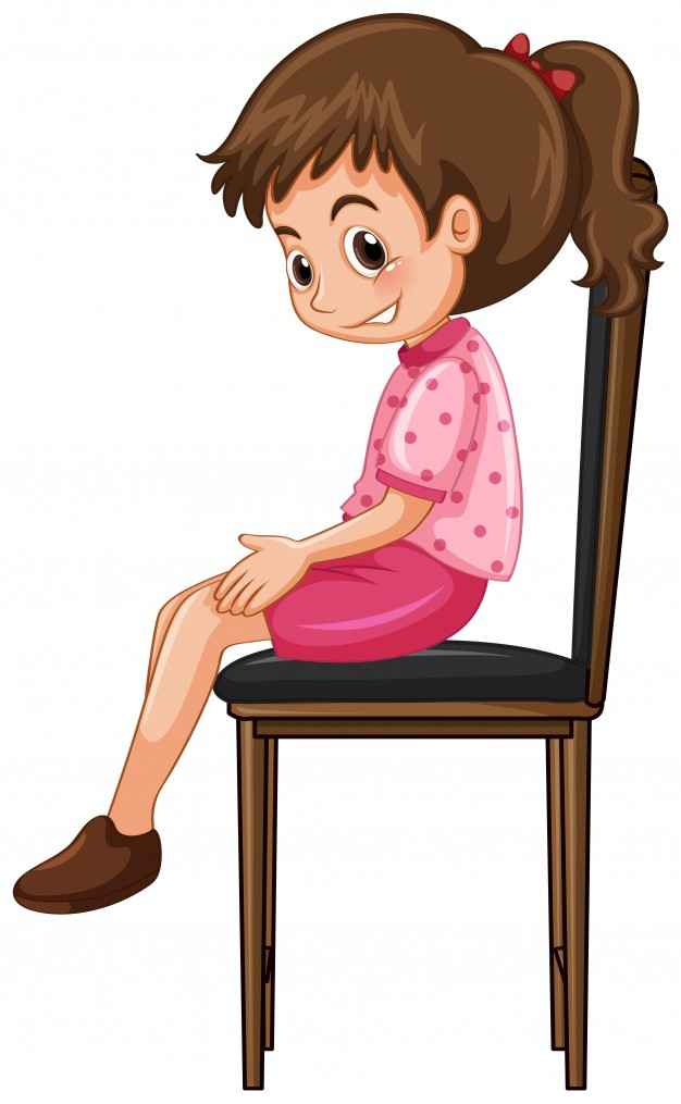 Little girl sitting on big chair