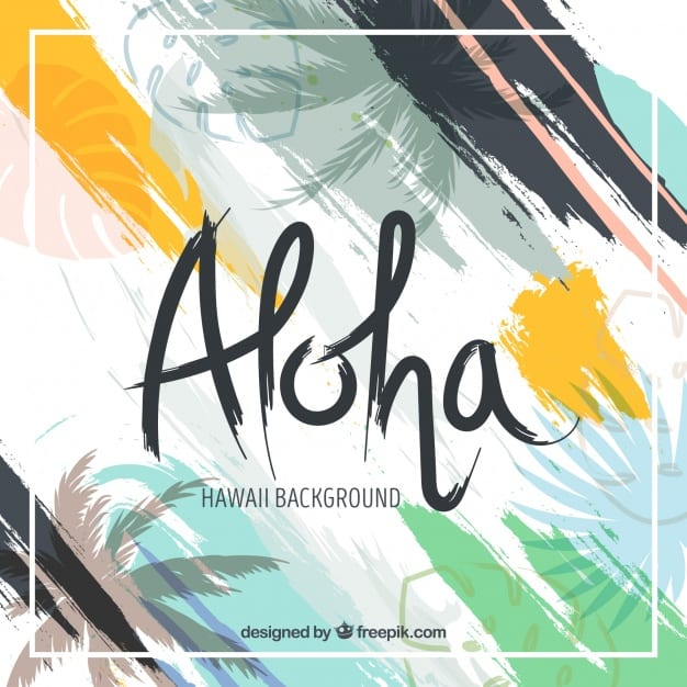 Abstract background of aloha with brush