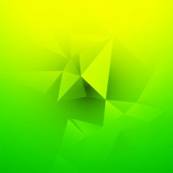 Abstract green and yellow polygonal background