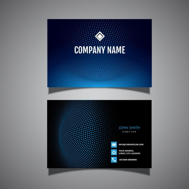 Business card with a modern halftone dots design