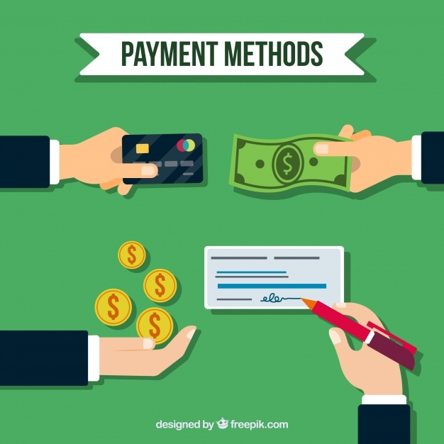 Flat composition with traditional payment methods