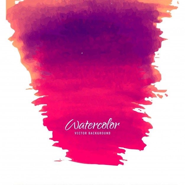 Modern pink watercolor background