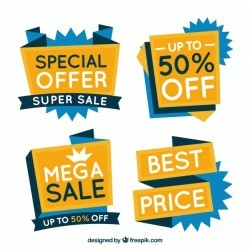 pack of special offer banners