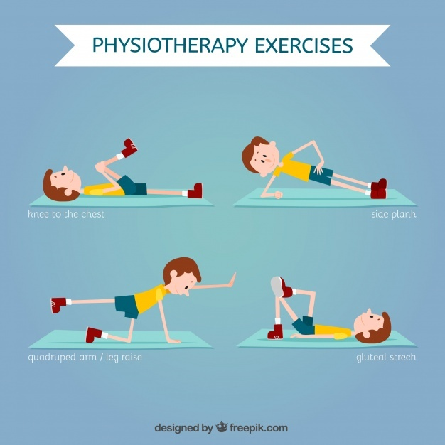 Physiotherapy exercise set
