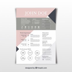 Pretty abstract resume template