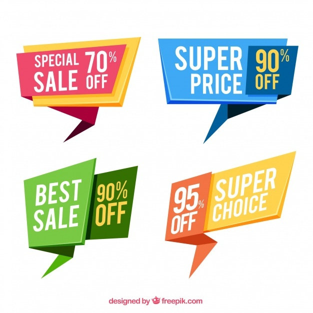Set of special sale banners