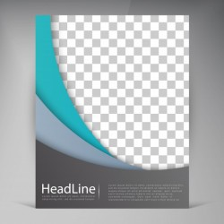 Abstract vector modern flyers brochure