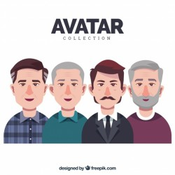 Adult men avatar collection