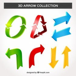 3d arrow collection with modern style