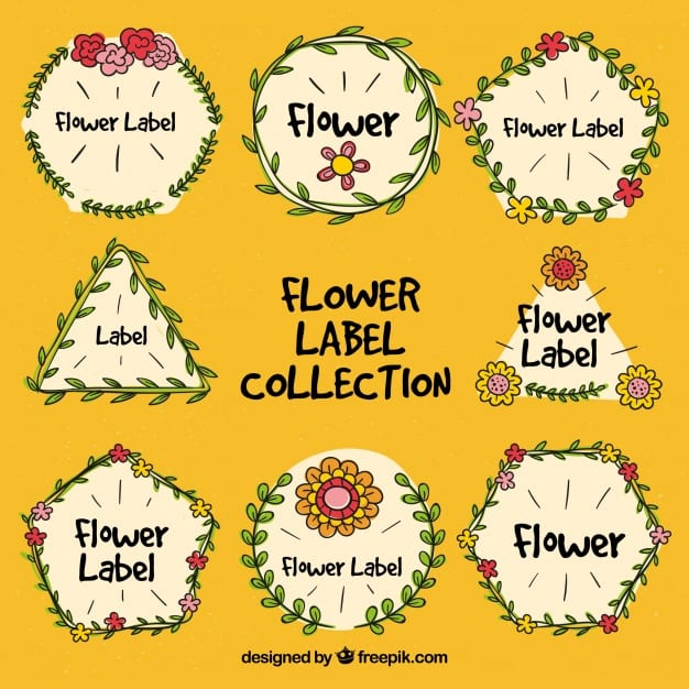 Floral label collection