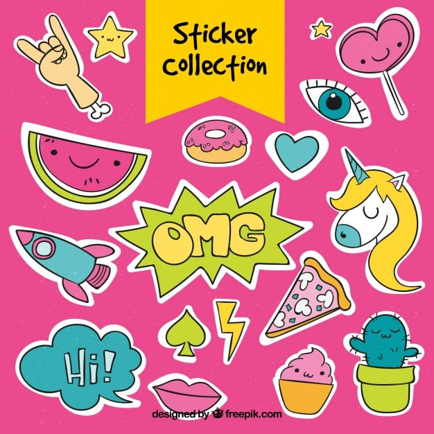 Funny stickers collection