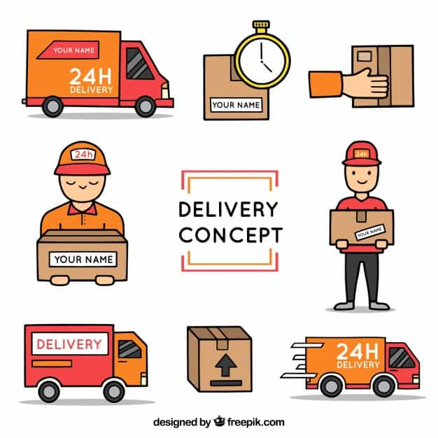 Hand drawn delivery elements