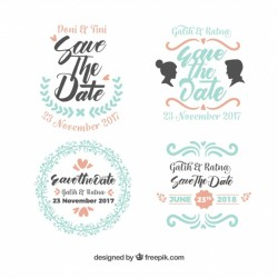 Modern variety of wedding labels