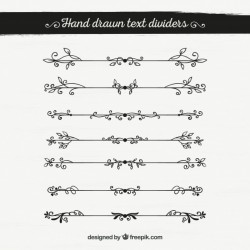 Pack of hand drawn vintage ornamental borders