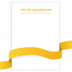 Vector color ribbons isolated on white