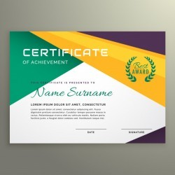 Abstract geometric certificate of achievement template